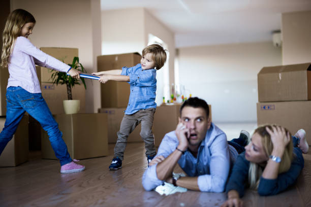 will they ever stop fighting? - siblings fighting stock pictures, royalty-free photos & images