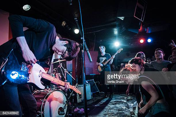 Will Toledo and Seth Dalby of Car Seat Headrest performs at 100 Club on JUNE 21 2016 in London England