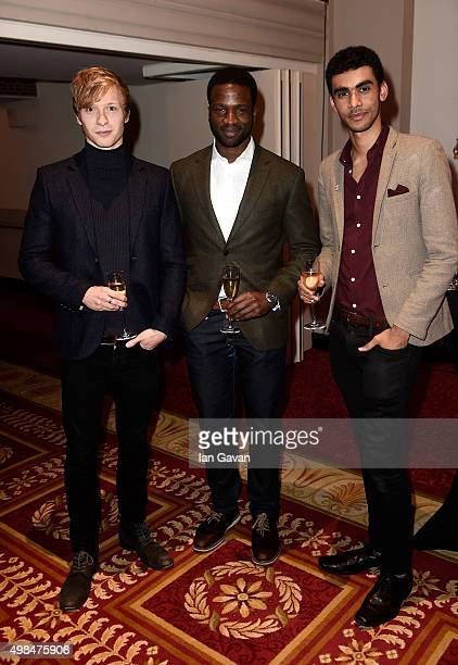 Will Tudor Sope Dirisu and Luke Pierre attend the National Youth Theatre fundraiser at Bloomsbury Hotel on November 23 2015 in London England