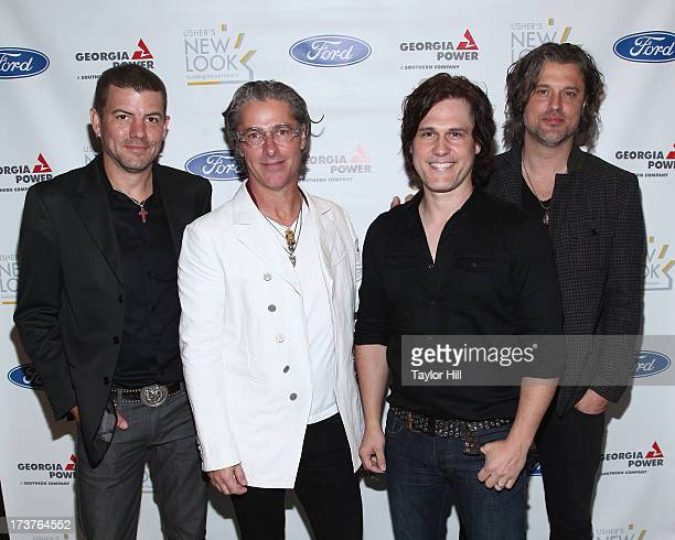 Will Turpin Ed Roland Joel Kosche and Dean Roland of Collective Soul and actor Nadji Jeter attend Usher's New Look's 2013 President's Circle Awards...