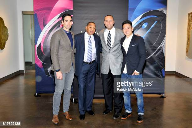 Will Varner Wynton Marsalis Derek Jeter and Eugene Tong attend MOVADO Presents The Night Of Discovery at Visual Arts Gallery at the School of Visual...