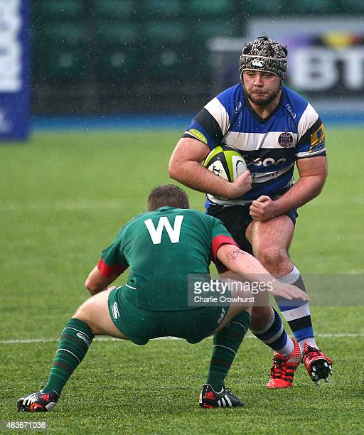 Will Vaughan of Bath during the Premiership Rugby/RFU U18 Academy Finals Day match between Leicester and Bath at The Allianz Park on February 16 2015...
