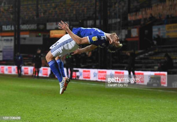 Will Vaulks during the Sky Bet Championship match between Luton Town and Cardiff City at Kenilworth Road on February 16, 2021 in Luton, England....