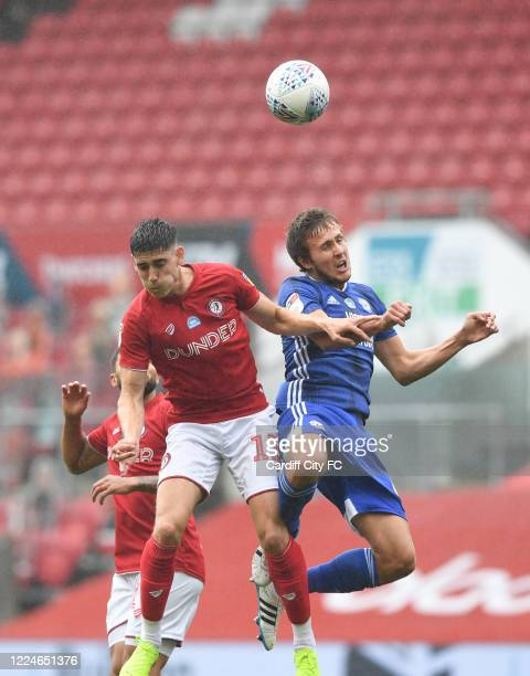 Will Vaulks of Cardiff City FC during the Sky Bet Championship match between Bristol City and Cardiff City at Ashton Gate on July 4 2020 in Bristol...