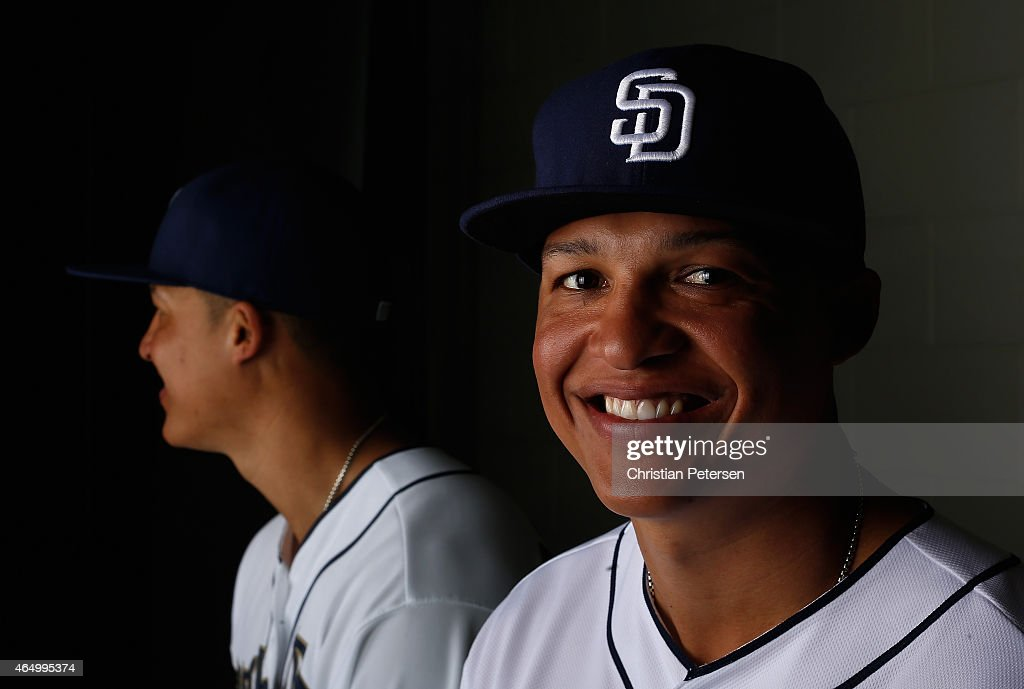 Will Venable #25 of the San Diego Padres poses for a portrait during spring training photo day at Peoria Stadium on March 2, 2015 in Peoria, Arizona.