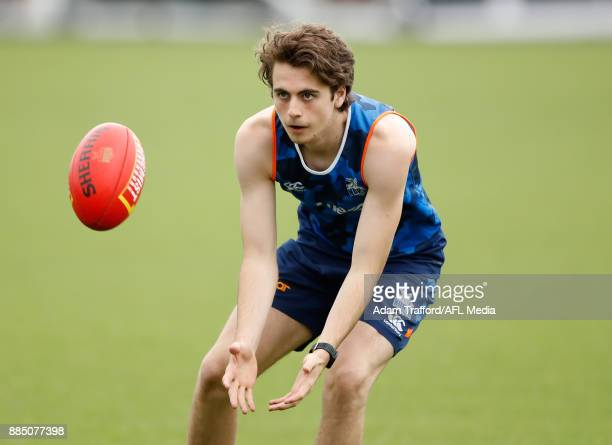 Will Walker of the Kangaroos in action during the North Melbourne Kangaroos training session at Arden St on December 4 2017 in Melbourne Australia