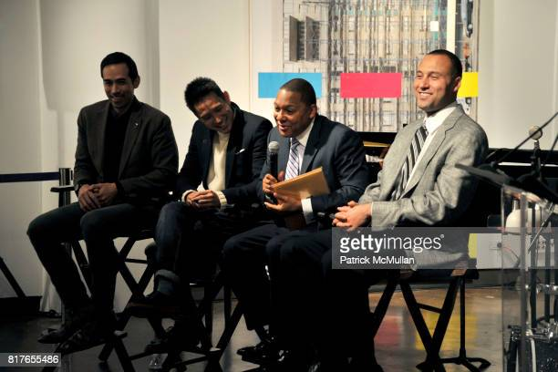 Will Warner Eugene Tong Wynton Marsalis and Derek Jeter attend MOVADO Presents The Night Of Discovery at Visual Arts Gallery at the School of Visual...