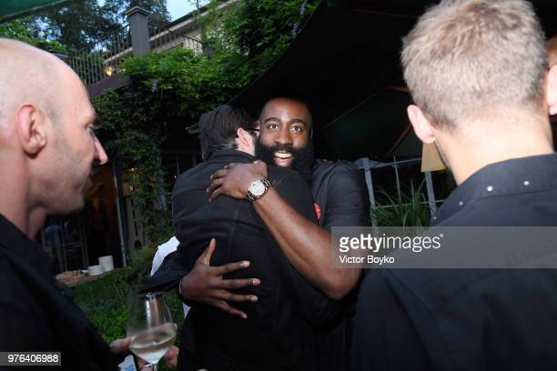 db19a960768c Will Welch and James Harden attend the GQ Milan Cocktail Party during Milan  Men s Fashion Week