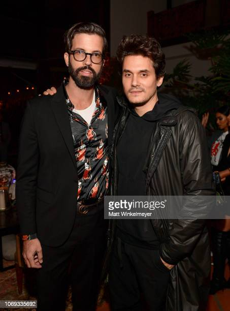 Will Welch and John Mayer attend the 2018 GQ Men of the Year Party at a private residence on December 6 2018 in Beverly Hills California