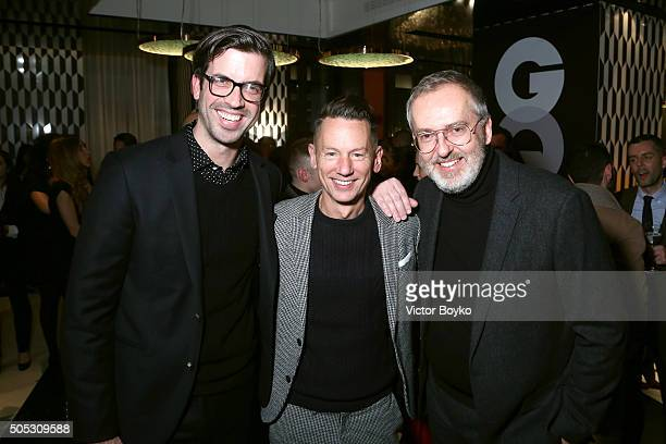 Will Welch Jim Nelson and Jim Moore attend GQ's Celebration of GQ Style EditorInChief Will Welch during Milan Men's Fashion Week Fall/Winter...
