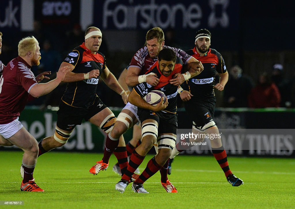 Newcastle Falcons  v  Newport Gwent Dragons - European Rugby Challenge Cup