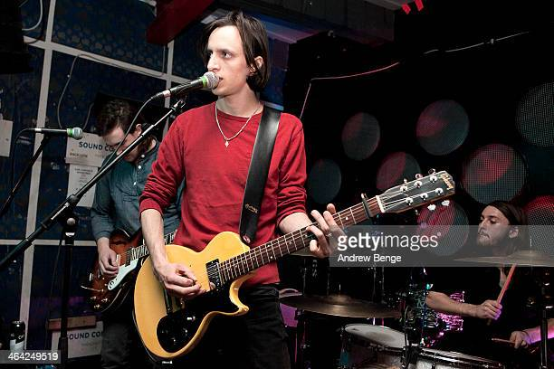 Will White of LSA performs on stage at Sound Control on January 21 2014 in Manchester United Kingdom