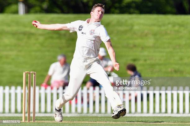 Will Williams of Canterbury bowls during the Plunket Shield match between Canterbury and the Otago Volts on October 23 2017 in Christchurch New...