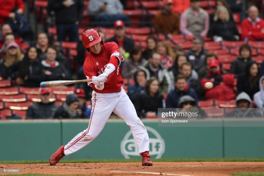 COLLEGE BASEBALL: APR 22 NC State at Boston College : News Photo