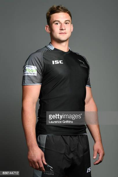 Will Witty of the Newcastle Falcons poses for a portrait during the Newcastle Falcons photocall at Kingston Park on August 17 2017 in Newcastle upon...