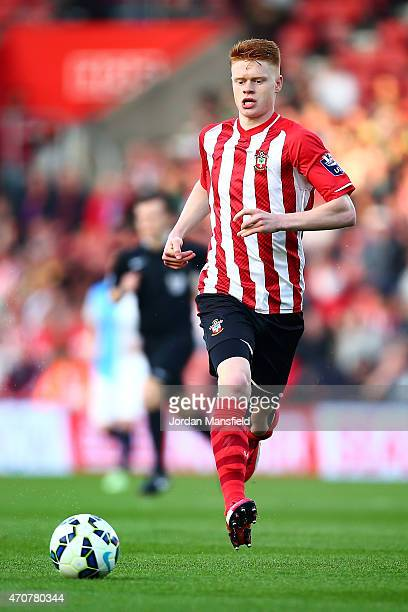 Will Wood of Southampton in action during the Under 21 Premier League Cup Final Second Leg match between Southampton and Blackburn Rovers at St...
