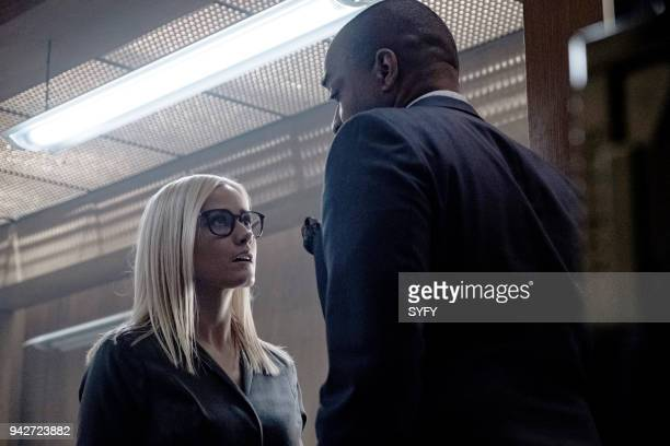 THE MAGICIANS 'Will You Play With Me' Episode 313 Pictured Olivia Taylor Dudley as Alice Rick Worthy as Dean Fogg