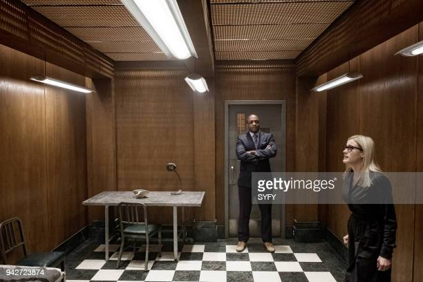 THE MAGICIANS 'Will You Play With Me' Episode 313 Pictured Rick Worthy as Dean Fogg Olivia Taylor Dudley as Alice