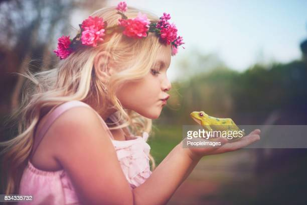 will you turn into a prince if i kiss you - fairy stock photos and pictures