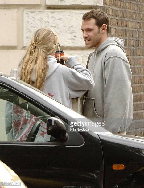 Will Young and friend during Will Young Sighting in Portobello Road May 13 2006 in London Great Britain