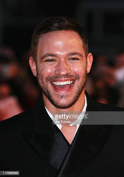 Will Young arrives at the The Brit Awards 2008 at Earls Court on February 20 2008 in London England