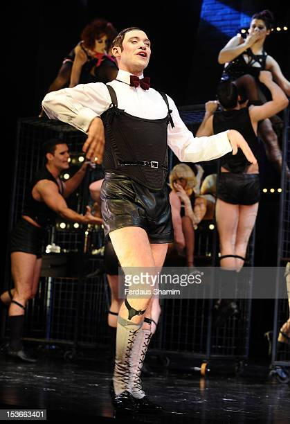 Will Young as Emcee and ensemble perform during a photocall for 'Cabaret' at The Savoy Theatre on October 8, 2012 in London, England.