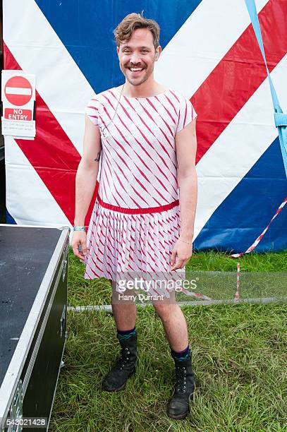 Will Young attends the Glastonbury Festival 2016 at Worthy Farm Pilton on June 25 2016 in Glastonbury England