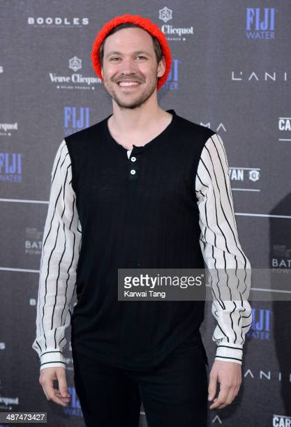 Will Young attends the inaugural Battersea Power Station annual party held at Battersea Power station on April 30 2014 in London England