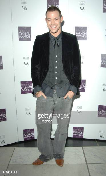 Will Young during British Fashion Awards 2005 Arrivals at Victoria Albert Museum in London Great Britain