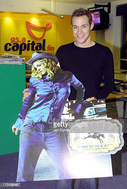 Will Young during Will Young Visits Capital FM Radio at Leicester Square Great Britain