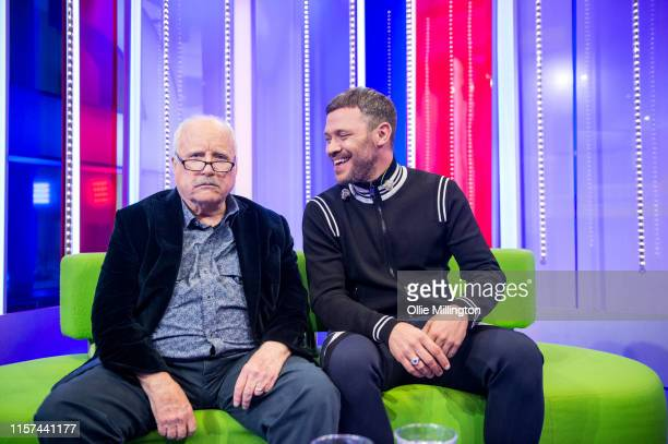 Will Young in conversation with Richard Dreyfuss on the BBCs 'The One Show' on the evening of the launch of his new album 'Lexicon' in the courtyard...