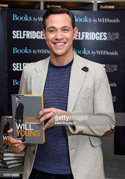Will Young meets fans and signs copies of his book 'Funny Peculiar' at Selfridges on October 11 2012 in London England