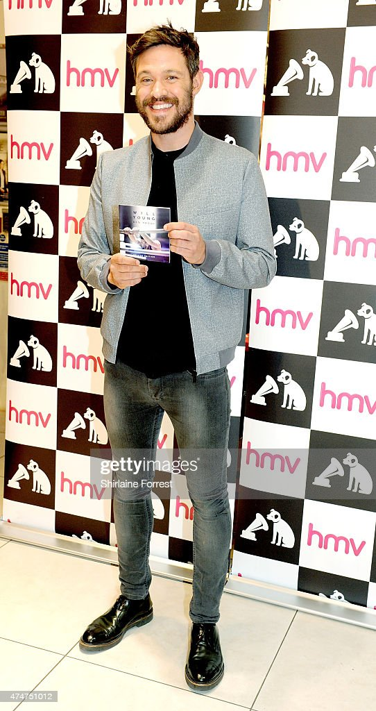 Will Young meets fans and signs copies of his new album '85% Proof' at HMV Manchester on May 25, 2015 in Manchester, England.