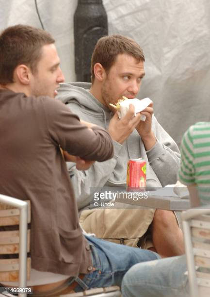 Will Young out with friends at a Falafel restaurant in Portobello Road*EXCLUSIVE*