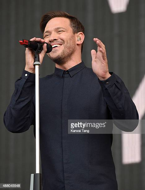 Will Young performs at the BBC Radio 2 Live In Hyde Park Concert at Hyde Park on September 13 2015 in London England