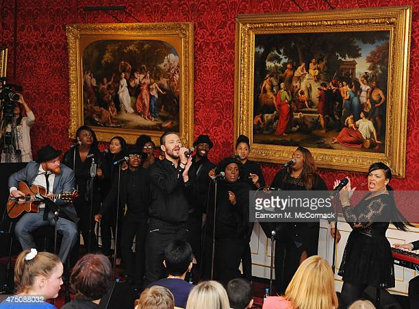 Will Young performs at The Final Of BBC2's 500 Words Competition at St James Palace on May 29 2015 in London England