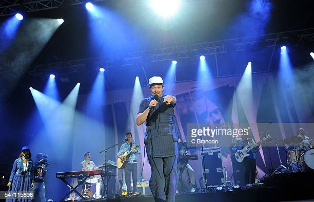 Will Young performs on stage during Day 2 of Kew The Music at Kew Gardens on July 13 2016 in London England