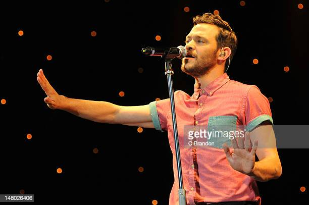 Will Young performs on stage for Kew The Music at Kew Gardens on July 7 2012 in London United Kingdom