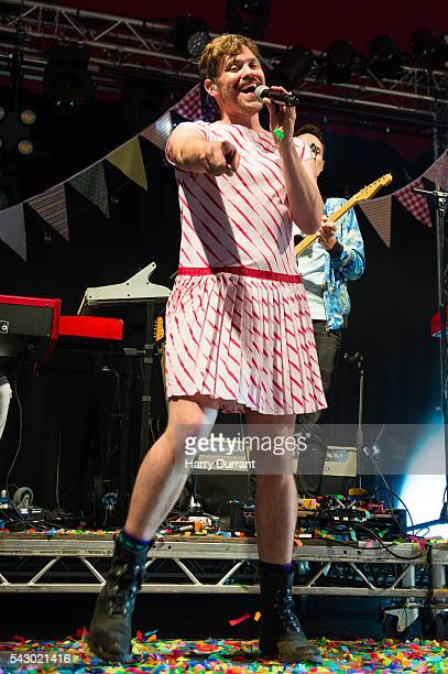 Will Young performs on The Avalon Stage Glastonbury Festival 2016 at Worthy Farm Pilton on June 25 2016 in Glastonbury England
