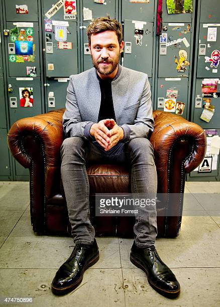 Will Young poses backstage after meeting fans and signing copies of his new album '85% Proof' at HMV Manchester on May 25 2015 in Manchester England