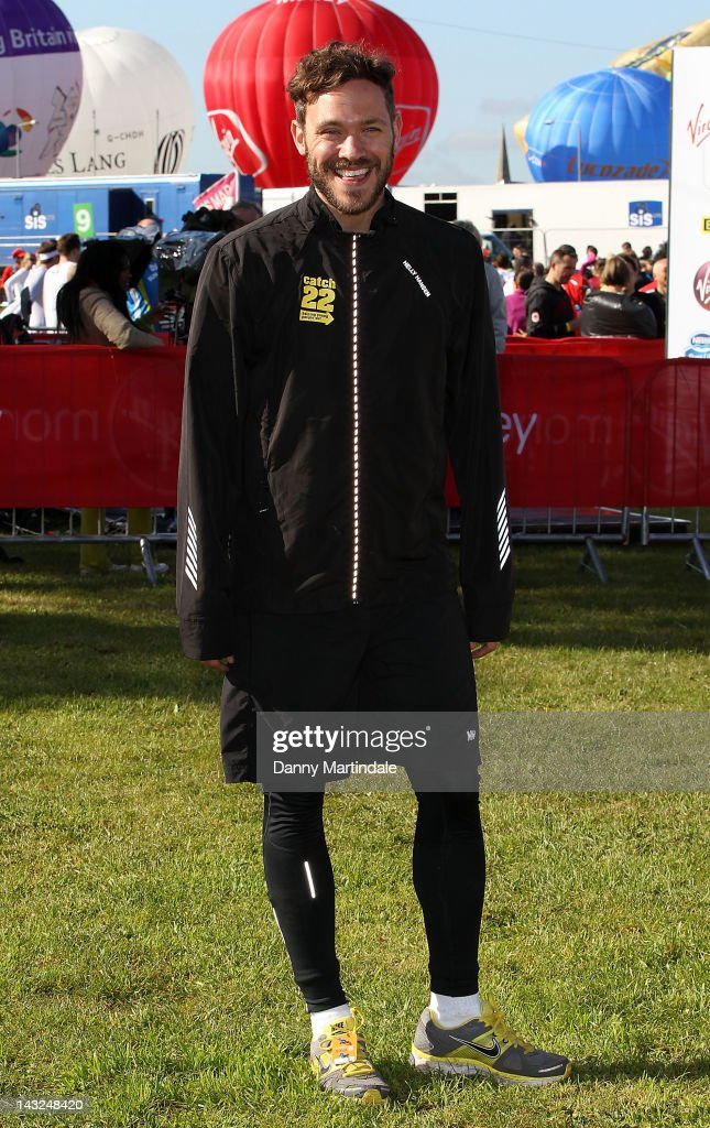 Will Young takes part in 2012 Virgin London Marathon on April 22, 2012 in London, England.