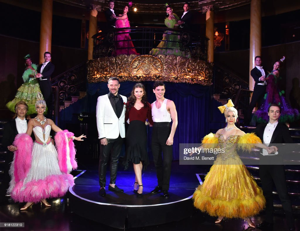 Will Young, Zizi Strallen, Jonny Labey (C) pose at a photocall for 'Strictly Ballroom The Musical' at Cafe de Paris on February 14, 2018 in London, England.