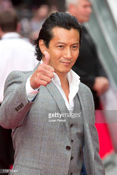Will Yun Lee attends the UK Premiere of 'The Wolverine' at Empire Leicester Square on July 16 2013 in London England