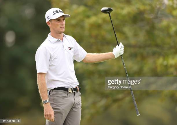 Will Zalatoris of the United States plays his shot from the second tee during the first round of the 120th U.S. Open Championship on September 17,...