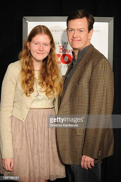 Willa Baker and actor Dylan Baker attend the We Bought a Zoo premiere at Ziegfeld Theater on December 12 2011 in New York City