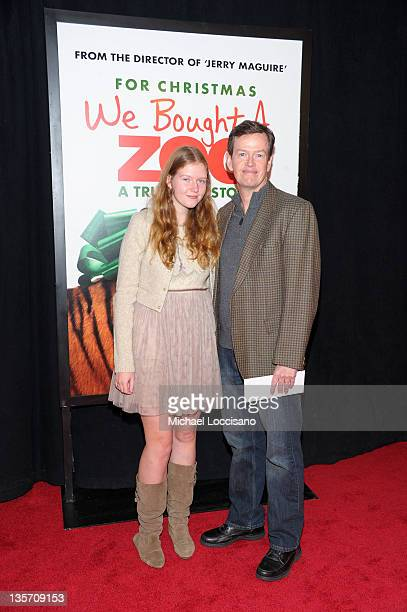 Willa Baker and Dylan Baker attends the We Bought a Zoo premiere at Ziegfeld Theater on December 12 2011 in New York City