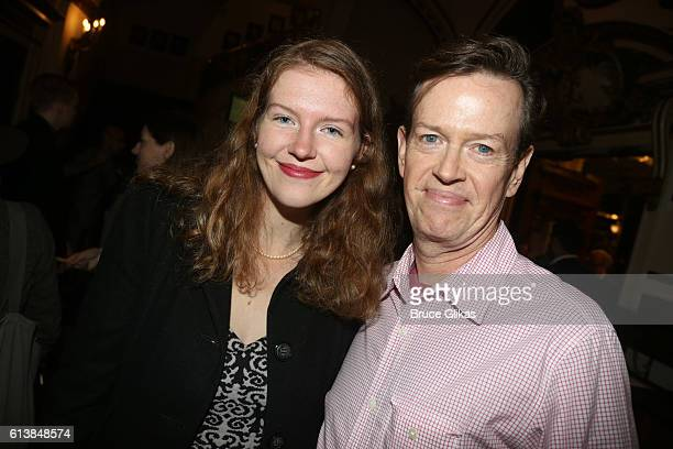 Willa Baker and father Dylan Baker pose at The Opening Night of Oh Hello on Broadway at The Lyceum Theatre on October 10 2016 in New York City