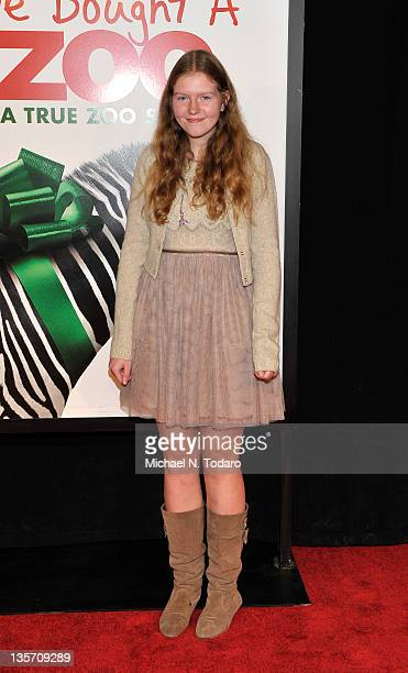 Willa Baker attends the We Bought a Zoo premiere at Ziegfeld Theater on December 12 2011 in New York City