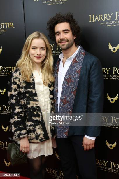 Willa Fitzgerald and Gabe Kennedy attend the Broadway Opening Day performance of 'Harry Potter and the Cursed Child Parts One and Two' at The Lyric...