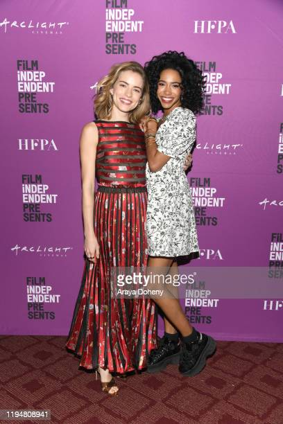 Willa Fitzgerald and Herizen Guardiola at Film Independent Presents USA Network Premiere Screening Of Dare Me at ArcLight Hollywood on December 18...